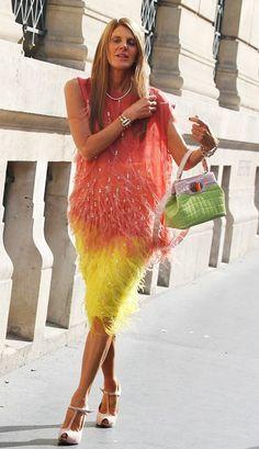 Anna Dello Russo wearing #Bulgari #PFW