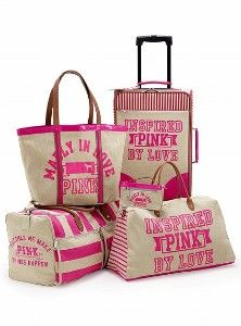 LOVE PINK LUGGAGE | **PINK BY VICTORIA SECRET** | Pinterest | Pink ...