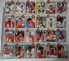 1979 Topps New England Patriots Team Set of 24 Football Cards #NewEnglandPatriots