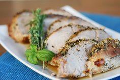 Garlic & Herb Crusted Pork Loin - few ingredients & super easy recipe!