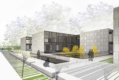 Renderings for the architecture competition for the new IMAS building in Majorca
