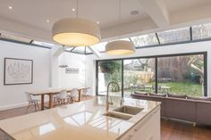 Ok so we can't afford the dream, but can we afford this? Single side and rear glass roof extension with bifold and the double story rear extension on existing footprint. Kitchen Diner Extension, Open Plan Kitchen, New Kitchen, Kitchen Ideas, Glass Roof Extension, Rear Extension, Extension Ideas, Layout Design, Ikea