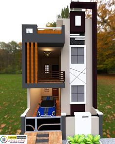 House Balcony Design, Duplex House Design, House Front Design, Living Room Partition Design, Room Partition Designs, Front Elevation Designs, House Elevation, Good House, Awesome House
