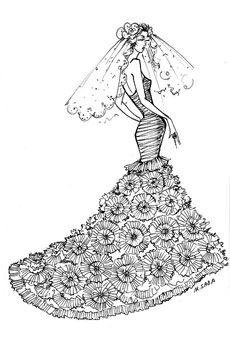 #SimoneCaravalli wedding gown sketch