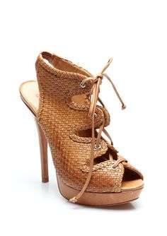schutz brown sugar laceups... oh if I still wore heels
