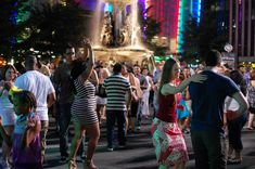 Fountain Square is the heart of downtown Cincinnati. Salsa on the Square is held every Thursday in the summer.