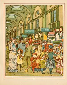 The Lowther Arcade ~ London Town, Illustrated by Thomas Crane & Ellen Houghton (1883)