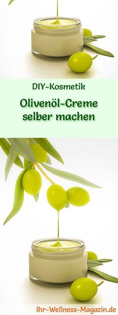 Make olive oil cream yourself - recipe and instructions- Olivenöl-Creme selber machen – Rezept und Anleitung DIY cosmetic recipe: make your own olive oil cream it Yourself - Olives, Hair Extension Care, Diy Shampoo, Belleza Natural, Your Recipe, Diy Skin Care, Natural Cosmetics, Diy Beauty, Natural Skin Care