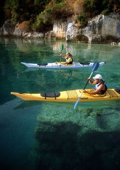 Crystal Blue Kayak Camping. Wilderness Campsites.