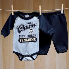 Penguins Baby LS Onesie Pants Set - Champ