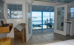 View from Blue Oceanfront Bungalow at the Staniel Cay Yacht Club