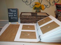 Leave a note for Ginny. Retirement party guest book. Teacher retirement.