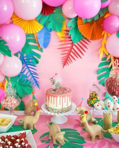 Juniper has been requesting a rainbow dinosaur party for a LONG time so we were both super excited fo to come… 3rd Birthday Party For Girls, Girl Dinosaur Birthday, Birthday Games, 1st Birthday Party Ideas For Girls, Park Birthday, Dinosaur Cake, Elmo Birthday, Birthday Board, Cadeau Baby Shower