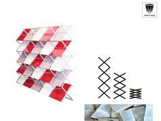 Porta riviste zigo maxi.Porta riviste zigo maxi pratico e leggero con apertura a fisarmonica, realizzato in alluminio anodizzato con piani appoggio in laminato plastico da 4 mm colore bianco. Montabile in meno di 10 secondi.