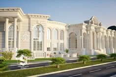 This is my practice design of a wedding hall classical facades House Arch Design, Hall Design, Facade Design, Architecture Design, Classic House Exterior, Classic House Design, Mansion Designs, Clinic Interior Design, House Design Pictures