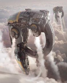 Images: A Collection Of Stunning Sci-Fi & Fantasy Concept Art From Arnaud Kleindienst spoiler free science fiction news from the movie sleuth. Alien Spaceship, Spaceship Design, Science Fiction Kunst, Science Art, Rpg Star Wars, Sci Fi Kunst, Starship Concept, Sci Fi Spaceships, Sci Fi Ships