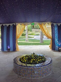 Blue and Yellow Tents, Yellow, Blue, Indian, Table Decorations, Furniture, Beautiful, Design, Home Decor