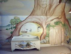 Beatrix Potter Mural. Love All Of This!