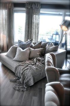 big, cozy, oversized chair