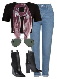 """""""Başlıksız #1290"""" by zeynep-yagmur ❤ liked on Polyvore featuring Topshop, Ted Baker, Alexander McQueen, Ray-Ban and CÉLINE"""