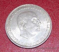 MONEDA DE100 PESETAS DE PLATA 1966 * 68 CIRCULADA