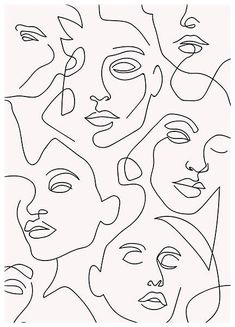 Minimalist Drawing, Minimalist Art, Art Sketches, Art Drawings, Abstract Face Art, Abstract Canvas, Outline Art, Diy Canvas Art, Aesthetic Art