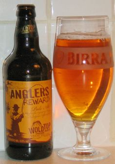 Anglers Reward from Wold Top Brewery. Nice golden colour and a highly drinkable hoppy-bitter brew. British Beer, Beer 101, Beer Label, Wine And Beer, Beer Brewing, Bitter, Craft Beer, Brewery, Beer Bottle