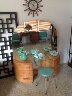 Mid Century Modern /  Art Deco   Heywood Wakefield Vanity/Dresser -Beautiful! #MidCenturyModern $550+