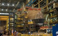 HMS Audacious under construction at BAE's Cumbria shipyard CREDIT: CPOA THOMAS TAM MCDONALD/ROYAL NAVY