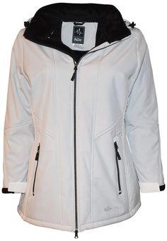 2a922351ce Pulse Women s Plus Size Insulated Soft Shell Jacket Lilya 1X-2X White