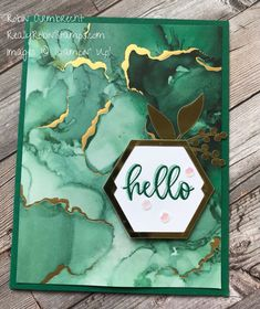 Alcohol Ink Painting, Alcohol Inks, Hexagon Cards, Card Making Tutorials, The Draw, Stamping Up Cards, Pretty Cards, Happy Birthday Cards, Flower Cards