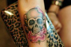 getting this underneath my skull tattoo on my arm