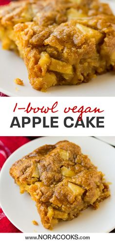 Easy, 1 bowl Vegan Apple Cake with optional caramel drizzle! Sure to become your favorite Fall dessert. Easy, 1 bowl Vegan Apple Cake with optional caramel drizzle! Sure to become your favorite Fall dessert. Apple Dessert Recipes, Apple Recipes, Whole Food Recipes, Cooking Recipes, Fall Desserts, Italian Cookie Recipes, Italian Cookies, Fall Recipes, Dessert Party