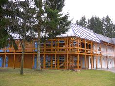 Hauptgebäude Saarwald Klinik Cabin, House Styles, Home Decor, Homemade Home Decor, Cabins, Cottage, Decoration Home, Cubicle, Interior Decorating