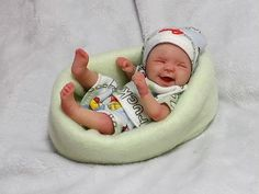 Polymer Clay ooak baby by Stork Bites from eBay