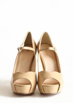 All For You Beige Heels | Modern Vintage Shoes
