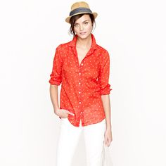 Red J Crew Perfect shirt J. Crew Perfect Shirt in anchors and horseshoes - size 6 - lightly worn - red button up J. Posh Party, Belleza Natural, Fashion Tips, Fashion Design, Fashion Trends, What To Wear, J Crew, Ideias Fashion, Long Sleeve Shirts