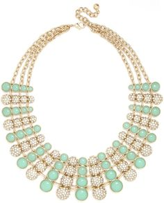 Gold Nonpareil Collar-Mint -  add a serious dose of personality to the neckline of a simple frock or tee.