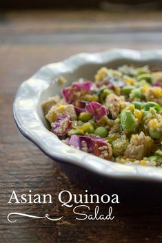 Summer is salad season! Check out this easy meatless asian quinoa salad as an easy healthy recipe option for dinner