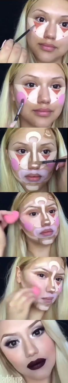 Clown contour tutorial (credits to the owner)
