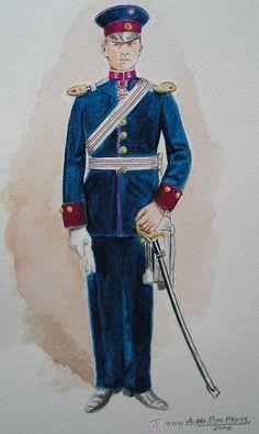1935 pattern Paraguayan Army officers' parade dress uniform.