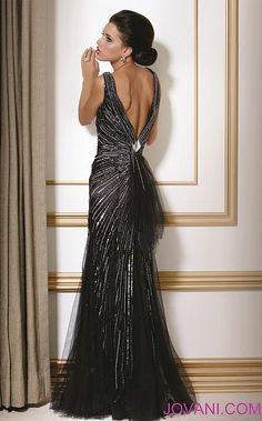 Jovani Black Evening Dress 154472 - French Novelty $850