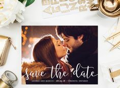 PRINTABLE Save the Date Postcard Timeless by BelleHanahPaperie