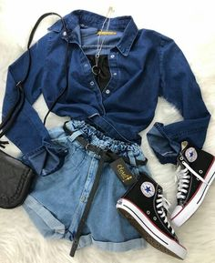 Cute Summer Outfits, Cute Casual Outfits, Pretty Outfits, Stylish Outfits, Teen Fashion Outfits, Swag Outfits, Womens Fashion, Mode Rockabilly, Teenager Outfits