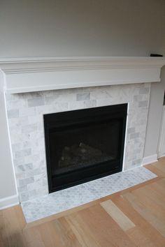 Carrara Marble Firep