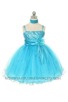 12809e4ff9 Flower Girl Dress Style 224 -TURQUOISE Gorgeous Sparkle Tulle and Sequin  Dress If you are