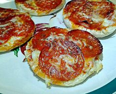 My Lil Foodie made  English Muffin Pizza    We #Eat #Love #Pray #CookingChics ☀ ♥