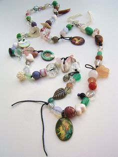 Necklace made of suitcase treasures-like candy. $42.25, via Etsy.