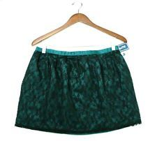 NWT Forever 21 Black Lace & Teal Green Mini Short Skirt size M Medium NEW