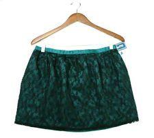 NWT Forever 21 Black Lace & Teal Green Mini Short Skirt size M Medium NEW